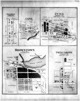 Shueyville, Cadiz, Juda, Browntown, Twin Grove, Green County 1891