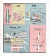 Shueyville, Cadiz, Juda, Browntown, Twin Grove, Green County 1902