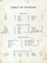 Table of Contents, Green County 1902