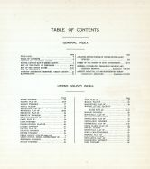 Table of Contents, Green County 1918