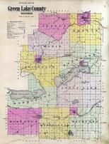 Green Lake County Outline Map, Green Lake County 1901