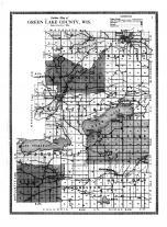 Green Lake County Outline Map, Green Lake County 1914