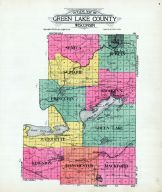 Outline County Map, Green Lake County 1923