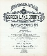 Title Page, Green Lake County 1923