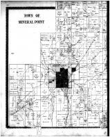 Mineral Point Town, Moscow Village, Jonesdale, Adamsville, Hollanddale - Left, Iowa County 1895