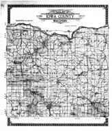 Iowa County Outline Map, Iowa County 1915