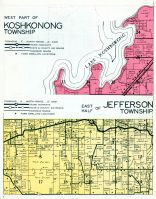 Koshkonong and Jefferson - East Township, Lake Koshkonong, Jefferson County 1950c
