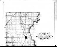 Juneau County Outline Map - Above, Juneau County 1898