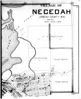 Necedah Village - North - Right, Juneau County 1898