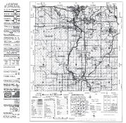 County Map and Legend 1, Lincoln County 1956