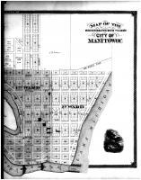 Manitowoc City - Second and Fourth Wards - Right, Manitowoc County 1878