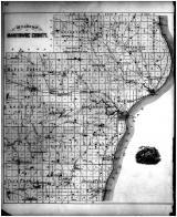 Manitowoc County Outline Map, Manitowoc County 1878