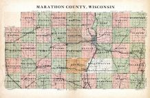 County Map, Marathon County 1930