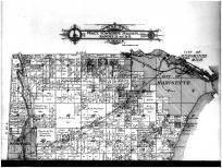 Fractional Townships 29 and 30 N, Ranges 23 and 24 E - Above, Marinette County 1912