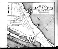 Marinette City - East - Above, Marinette County 1912