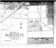 Marinette City - West - Below, Marinette County 1912
