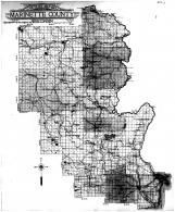 Marinette County Outline Map, Marinette County 1912