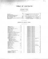 Table of Contents, Marinette County 1912