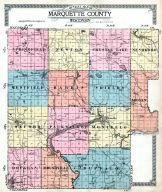 County Map - Outline, Marquette County 1919