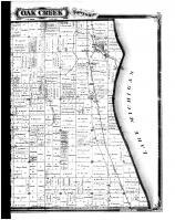 Oak Creek Township, Franklin Village - Right, Milwaukee County 1876