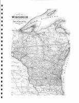 Wisonsin State Map, Monroe County 1897