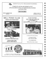 Marv's Auto Reconditioning, Mill Pond Club, Curl Corner, Oakdale Credit Union, Monroe County 1994