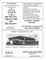 Rainbow Auction Realty Company, John Schuster, Wehr's Chevrolet, Inc., Monroe County 1994