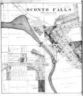 Oconto Falls, Mountain, Breed, Pensaukee PO - Left, Oconto County 1912 Microfilm