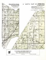 Kaukauna Township, North Part of Oneida Township, Outagamie County 1954