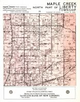 Maple Creek Township, North Part of Liberty Township, Outagamie County 1954