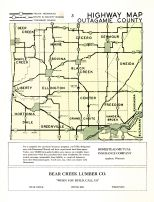 Outagamie County Highway Map, Outagamie County 1954