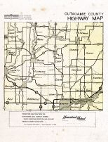 Outagamie County Highway Map, Outagamie County 1955c