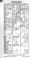 Town 36 N Range 2 E - Page 020, Price County 1910