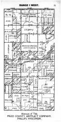 Town 37 N Range 1 W - Page 051, Price County 1910
