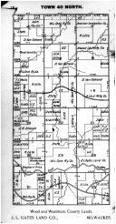 Town 40 N Range 2 E - Page 028, Price County 1910