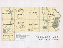 Racine County Drainage Map, Racine County 1950c