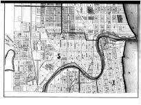Racine City - North - Below, Racine and Kenosha Counties 1887