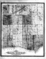 Racine and Kenosha Counties Map, Racine and Kenosha Counties 1887