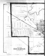 Edgerton City - Left, Rock County 1891
