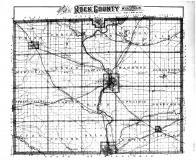 Rock County Outline Map, Rock County 1891
