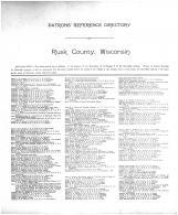 Directory 001, Rusk County 1914