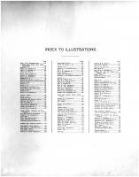 Index to Illustrations, Rusk County 1914