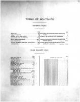 Table of Contents, Rusk County 1914