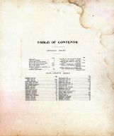 Table of Contents, Sauk County 1906