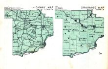 County Drainage and Highway Map, Sauk County 1960