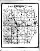 Sheboygan County Map, Sheboygan County 1875