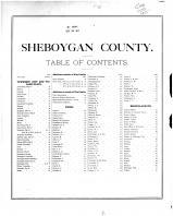 Table of Contents, Sheboygan County 1875