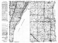 Holland Township, Mosel Township, Oostburg, Haven, Lake Michigan, Sheboygen County 1951