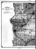St. Croix County Topographical Map - Left, St. Croix County 1914