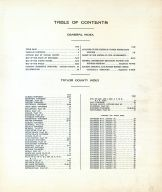 Table of Contents, Taylor County 1913